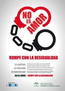 Imagen campaña No es Amor-rompe con la desigualdad