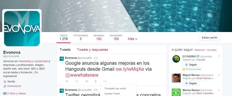 Nuevo diseño de Twitter 2014