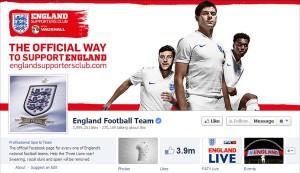 Cuenta oficial Facebook Selección Inglesa