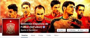 Cuenta oficial Facebook Selección Española